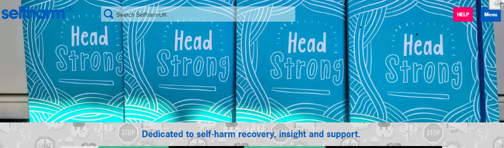 Head  Search SelfharmlJK  Head  Head  Dedicated to self-harm recOvery, insight and support.  Menu  Head  STOP